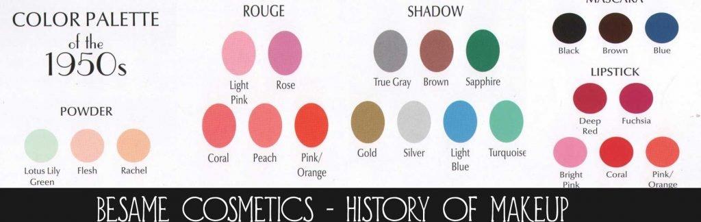 colori trucco anni 50