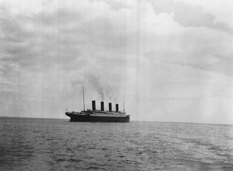 l'ultima foto del Titanic a galla