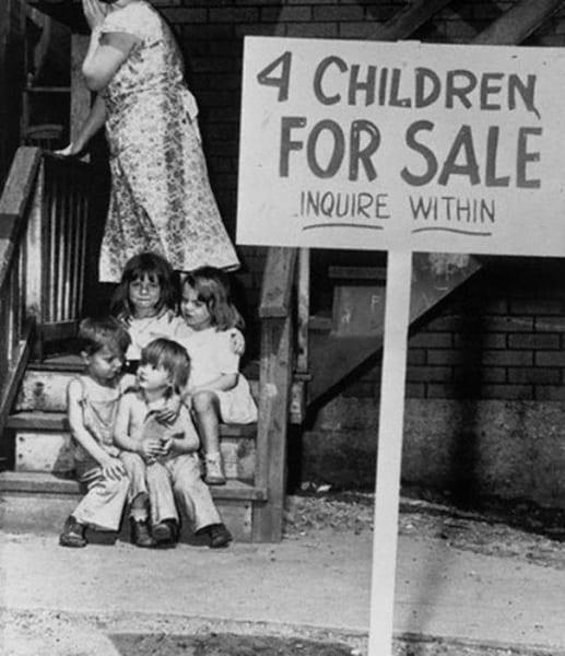 bambini in vendita