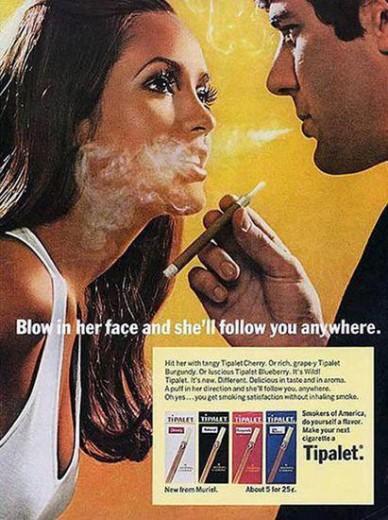 pubblicità sigarette vintage